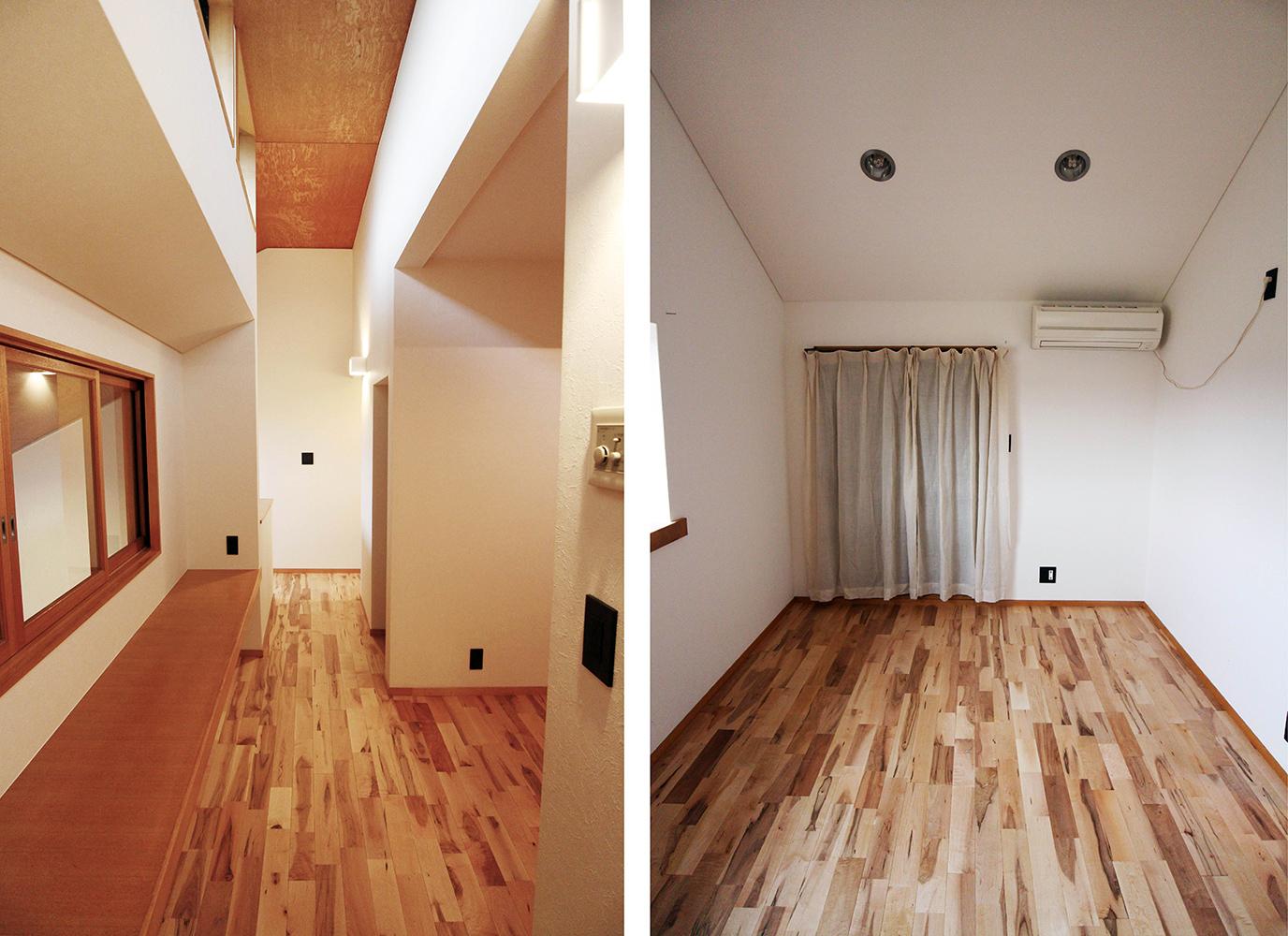 無垢フローリング張りの床